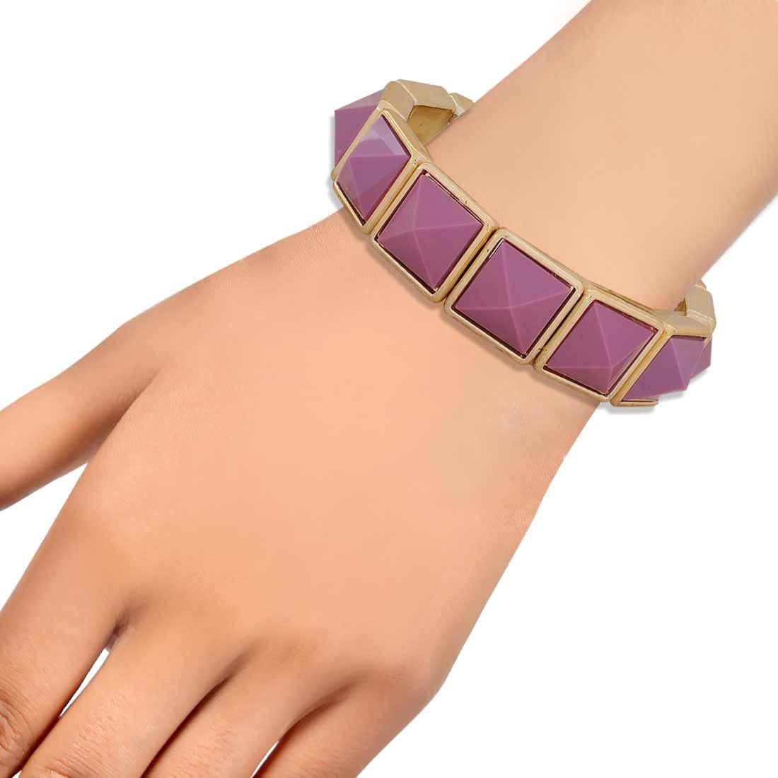 Plush Purple Contemporary Adjustable Party Size Bracelet Alloy Maayra MY6922