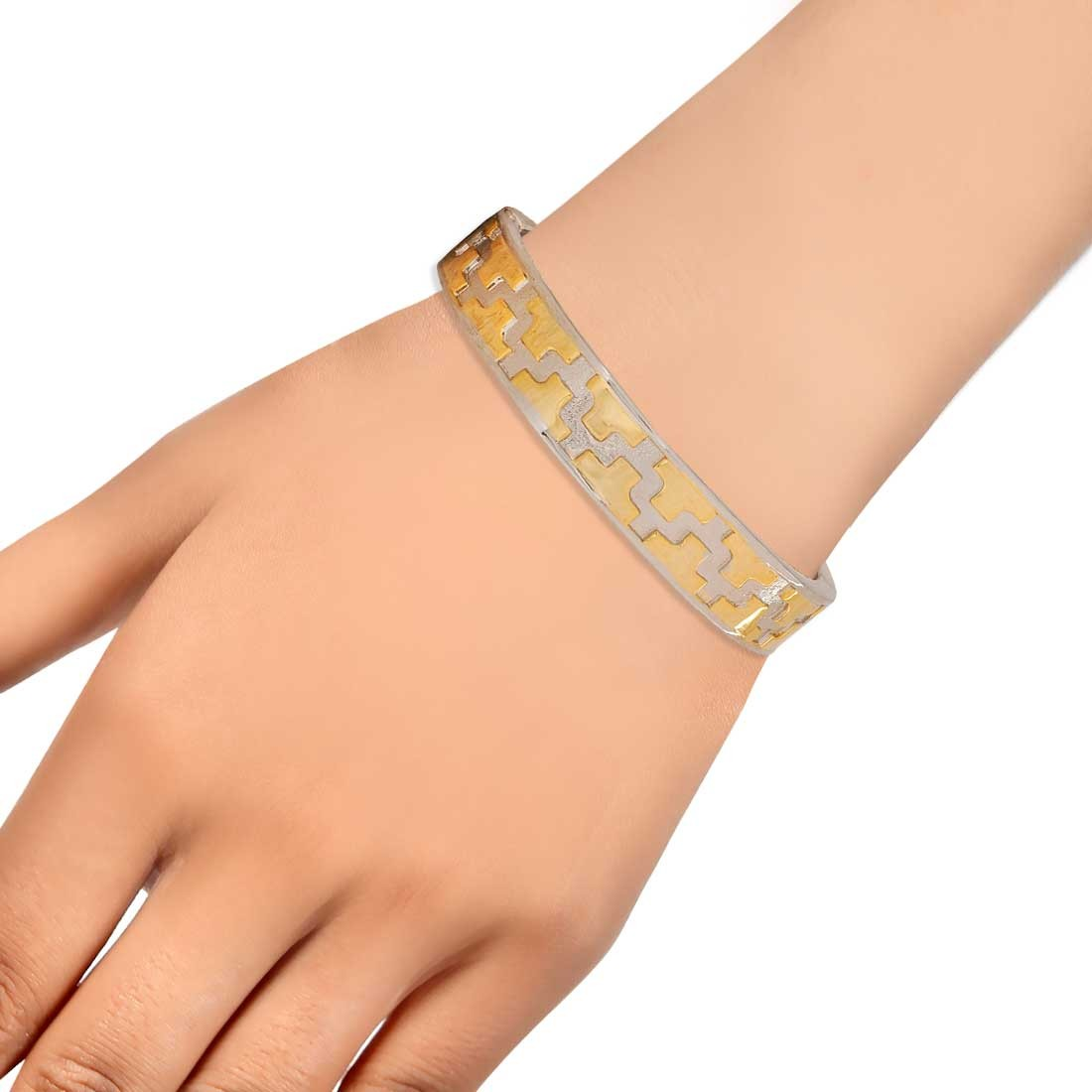Adorable Gold Silver Contemporary Adjustable Party Cuff Alloy Maayra MY6970