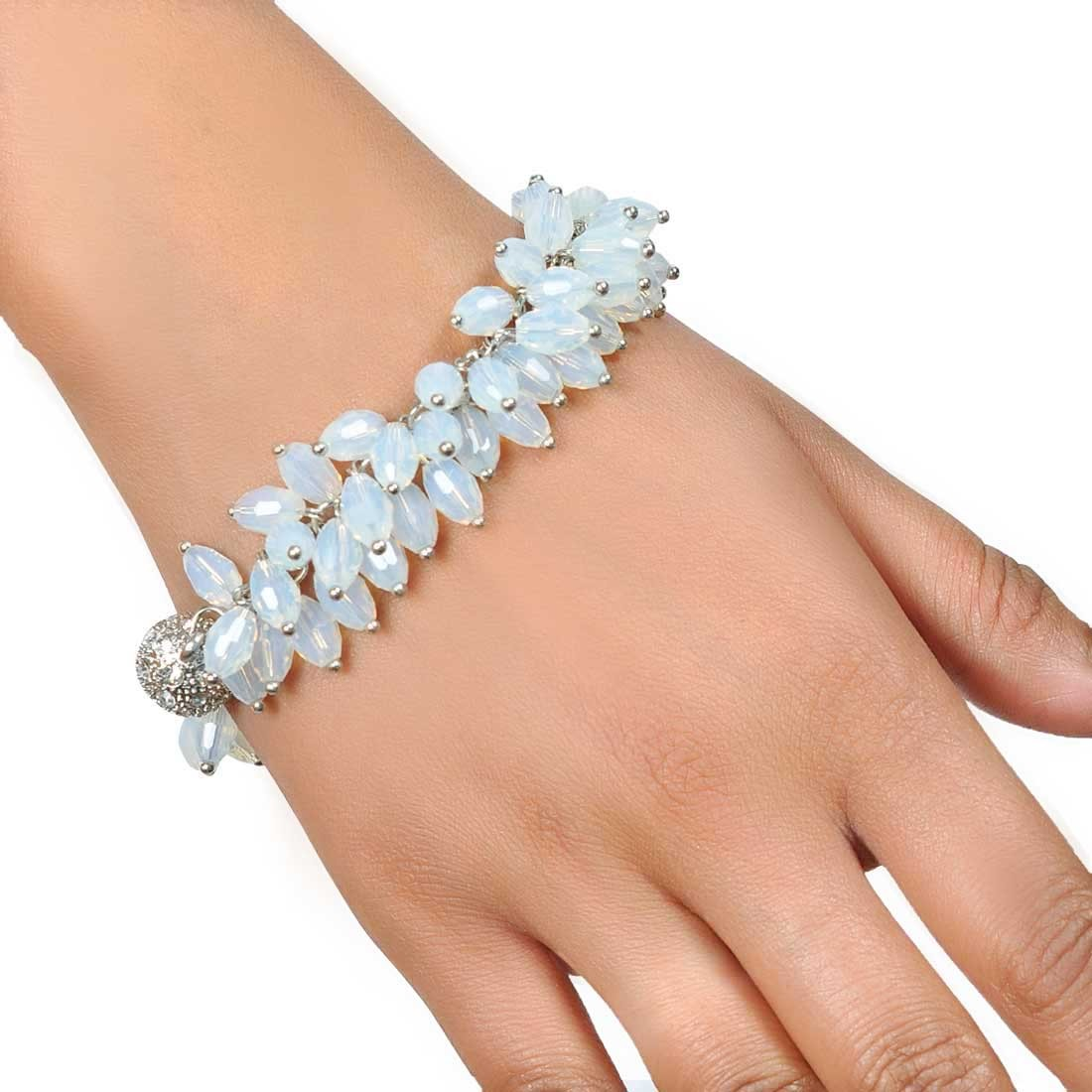 Lovely Blue Designer Adjustable College Size Bracelet Alloy Maayra MY7647