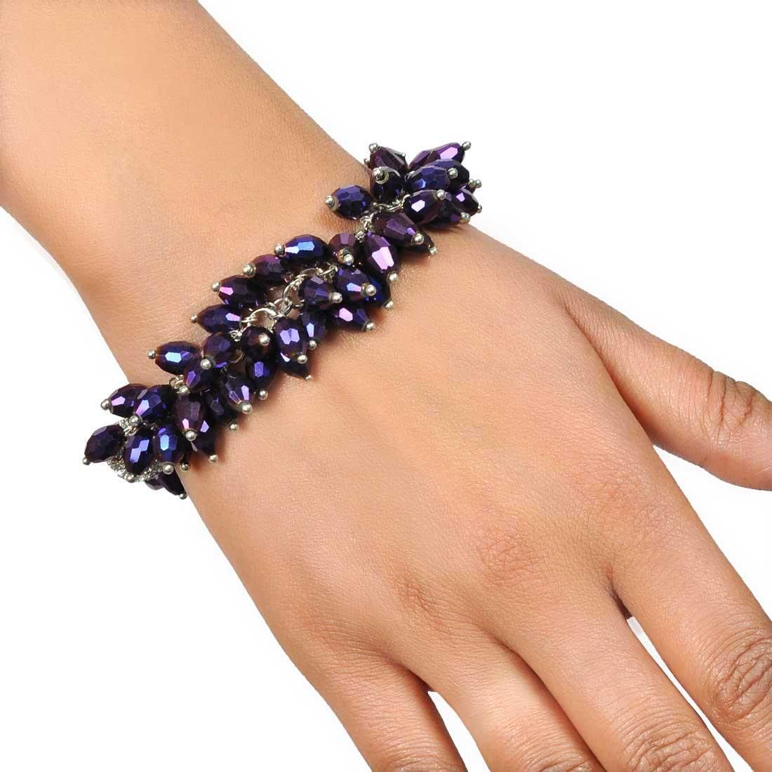 Exquisite Blue Designer Adjustable Get-together Bracelet Alloy Maayra MY7650