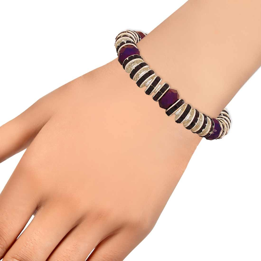 Chic Blue Contemporary Adjustable Get-together Bracelet Alloy Maayra MY7662