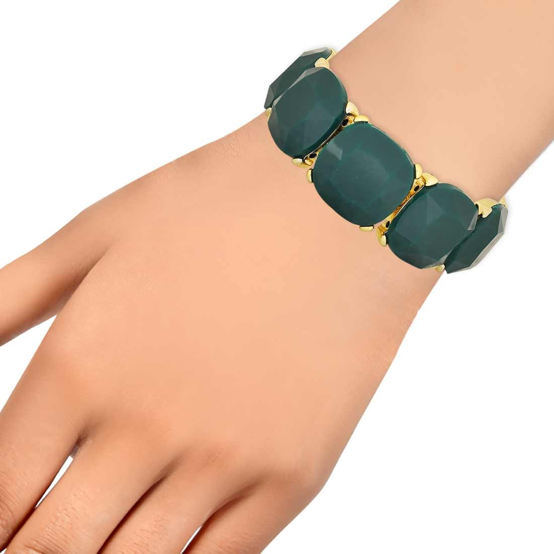 Amazing Green Contemporary Adjustable Party Size Bracelet Alloy Maayra MY7666