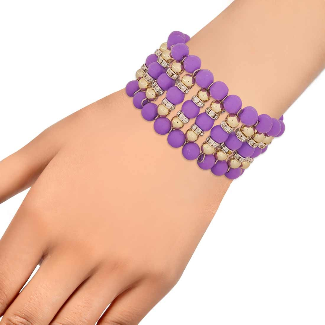 Lovable Blue Contemporary Adjustable Party Size Bracelet Alloy Maayra MY7672