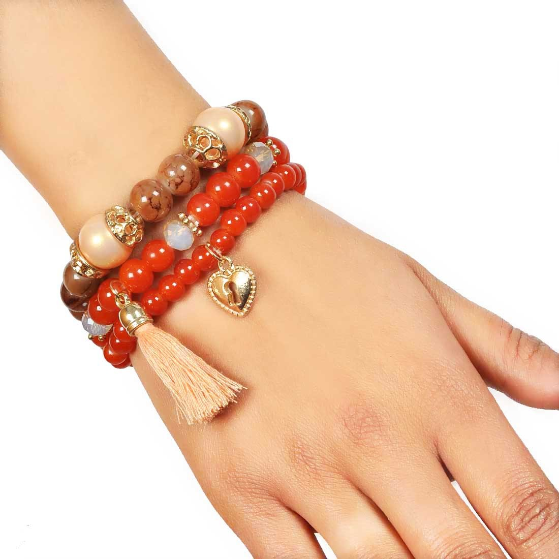 Sizzling Multicolor Trendy Adjustable Get-together Bracelet Alloy Maayra MY7686