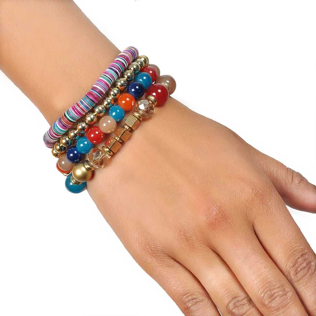 Shining Multicolor Designer Adjustable Dailywear Bracelet Alloy Maayra MY7688