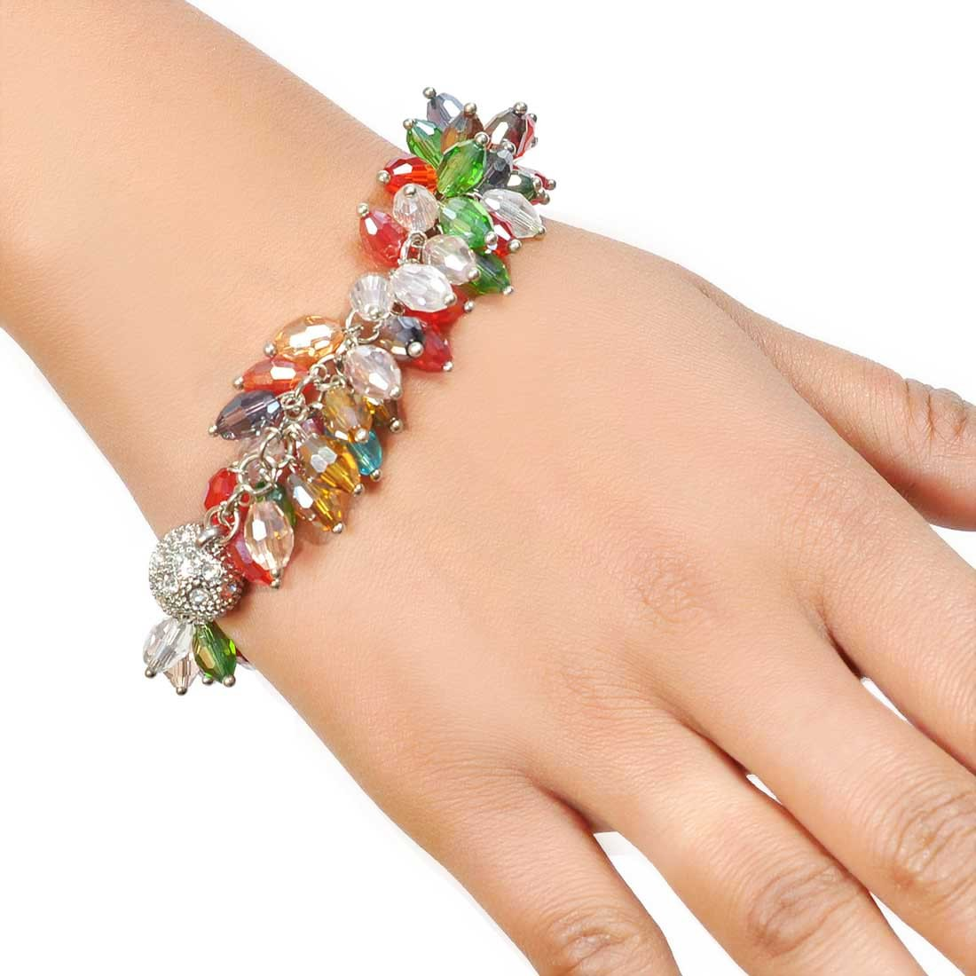 Elegant Multicolor Designer Adjustable Cocktail Bracelet Alloy Maayra MY7691