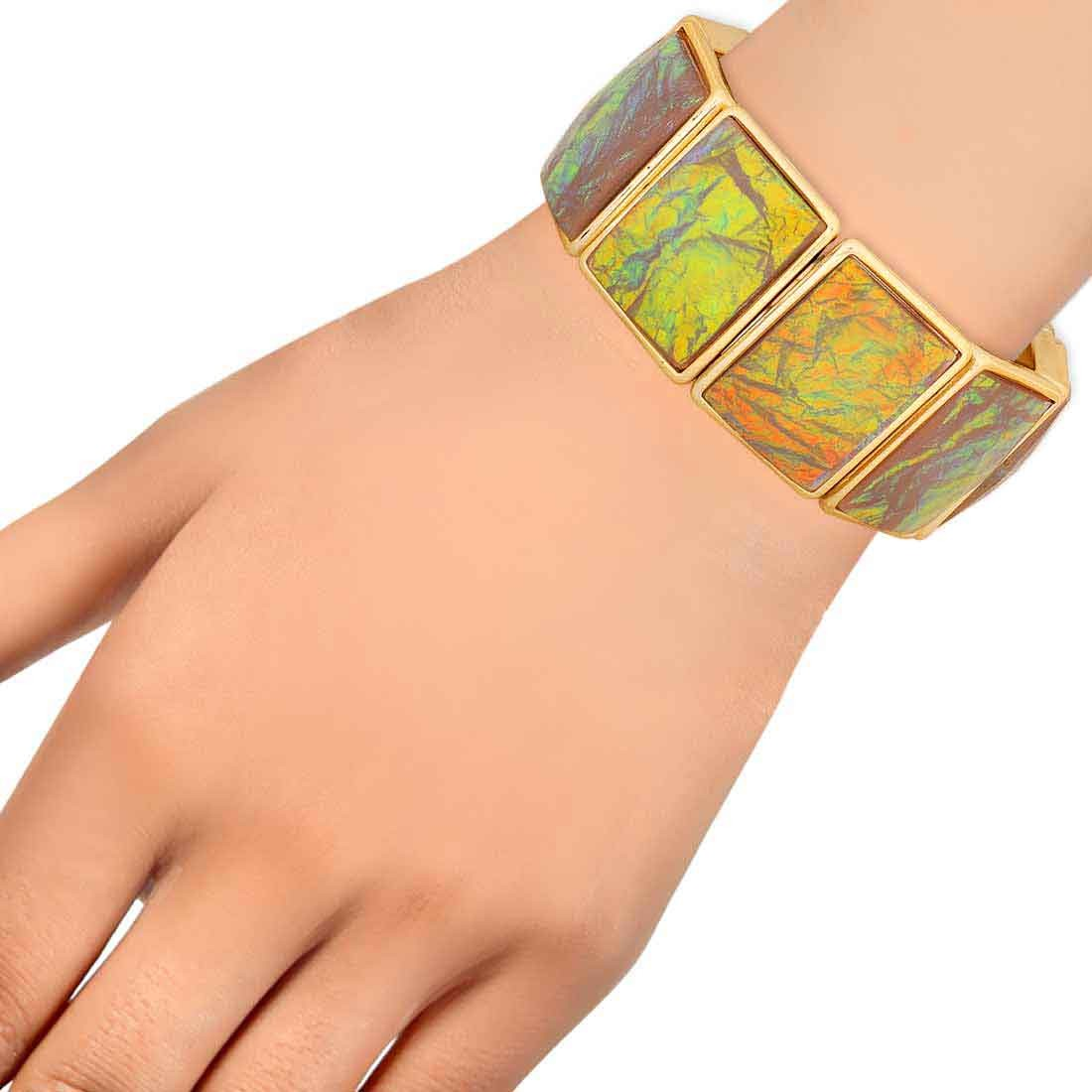 Lively Multicolor Contemporary Adjustable Party Bracelet Alloy Maayra MY7696