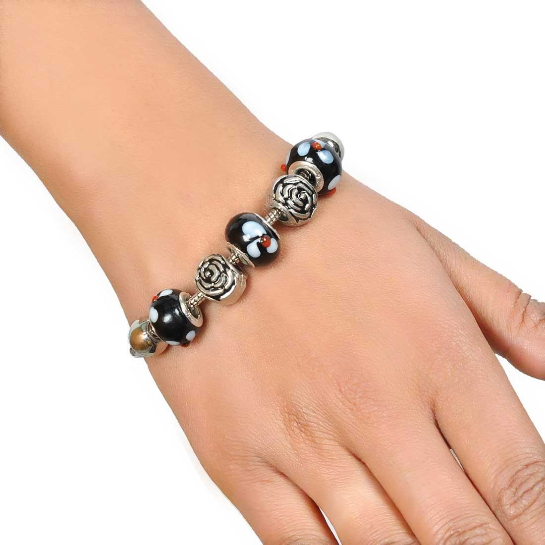 Great Multicolor Designer Adjustable Get-together Bracelet Alloy Maayra MY7698