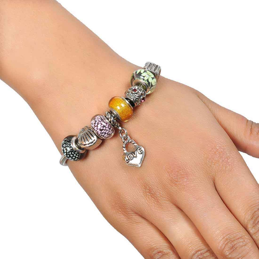 Grand Multicolor Contemporary Adjustable Party Bracelet Alloy Maayra MY7702