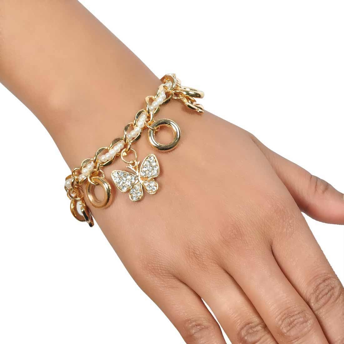 Darling White Gold in-Trend Adjustable Party Size Bracelet Alloy Maayra MY7726
