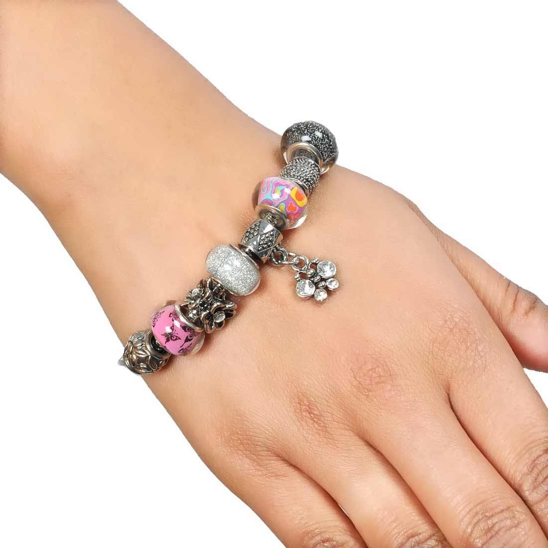 Gorgeous Multicolor in-Trend Adjustable Cocktail Bracelet Alloy Maayra MY7728
