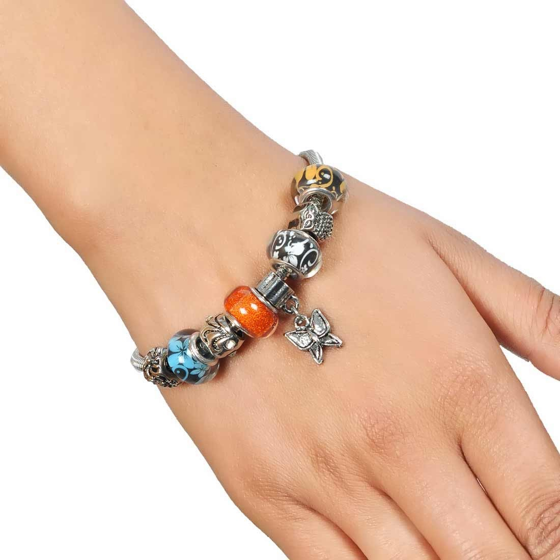 Plush Multicolor in-Trend Adjustable Reunion Size Bracelet Alloy Maayra MY7730