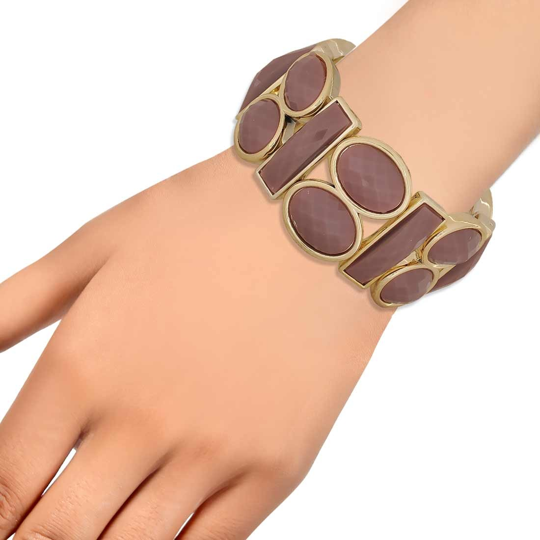 Artistic Brown in-Trend Adjustable Get-together Bracelet Alloy Maayra MY7755