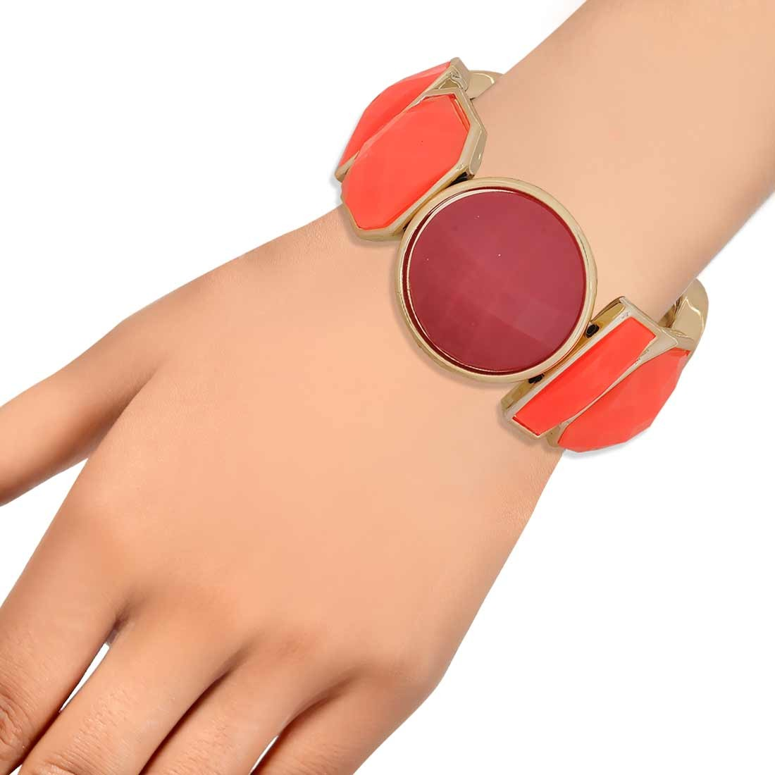Lovely Orange Maroon in-Trend Adjustable Reunion Bracelet Alloy Maayra MY7756