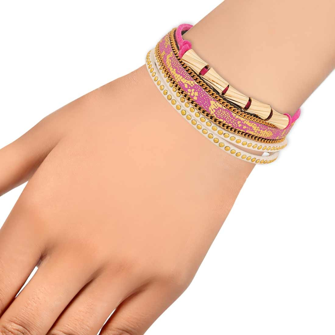 Darling Multicolor in-Trend Adjustable College Bracelet Alloy Maayra MY7782