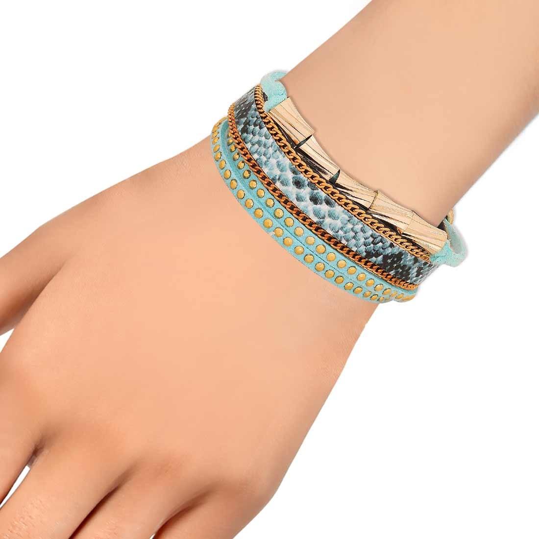 Sensual Multicolor in-Trend Adjustable Cocktail Bracelet Alloy Maayra MY7784