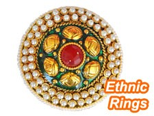 Designer ethnic rings