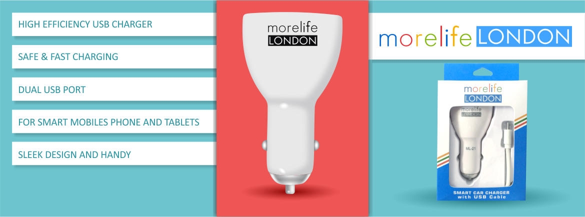 morelife LONDON Car Charger