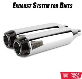 exhaust system for bikes