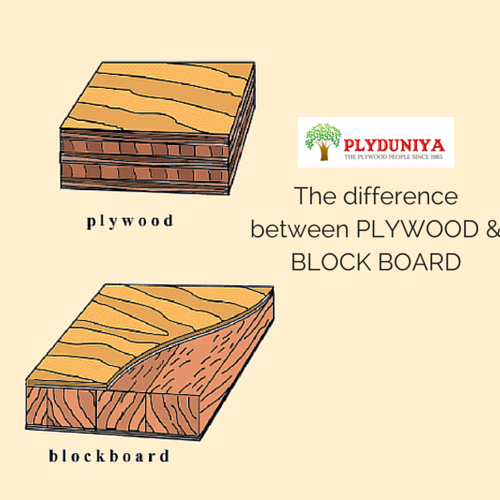 Plywood and block boards where lies the difference