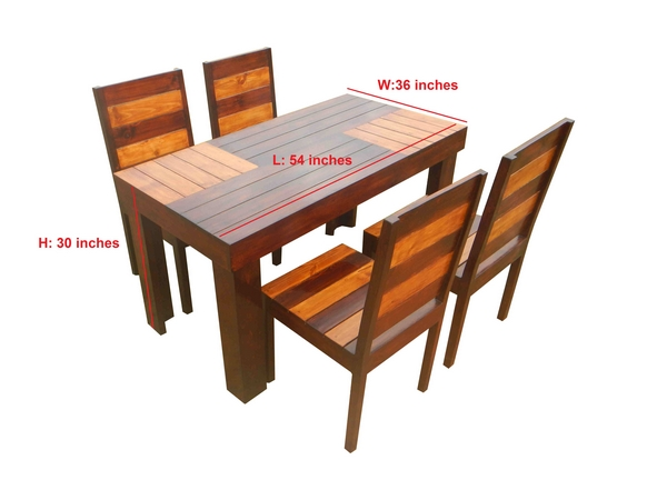Aura- 4 seater Dining table