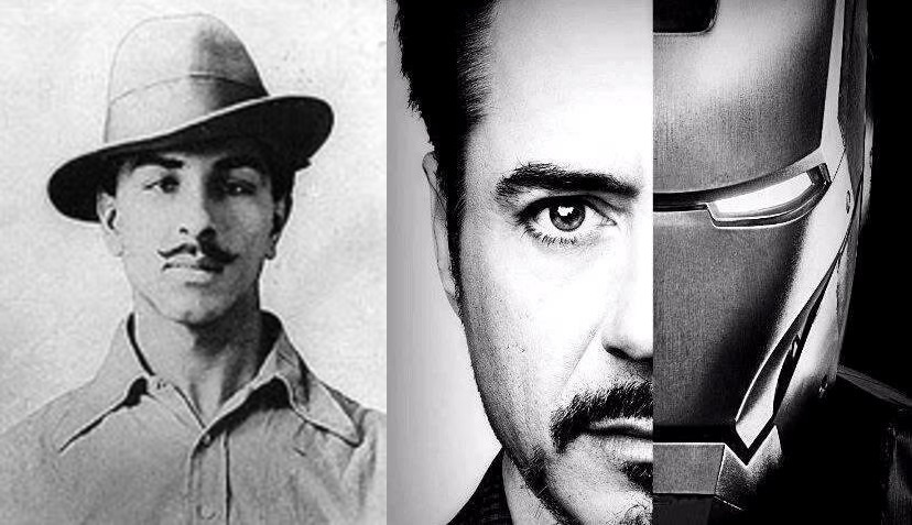 Iron man and Bhagat Singh