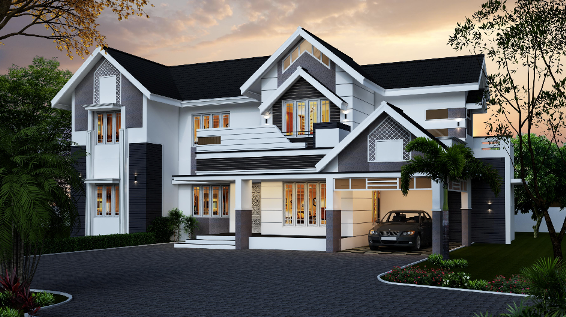 28 Sloped Roof Bungalow Font Elevations Collection 1