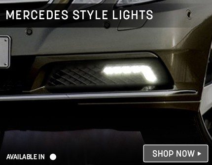 Mercedes Style Lights Banner