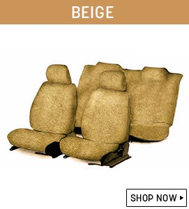 Beige Towel Seat Covers